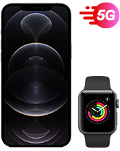 Apple iPhone 12 Pro Max and Watch 3