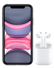 Apple iPhone 11 and AirPods