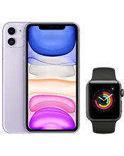 Apple iPhone 11 and watch