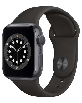 Apple Watch Series 6 in black