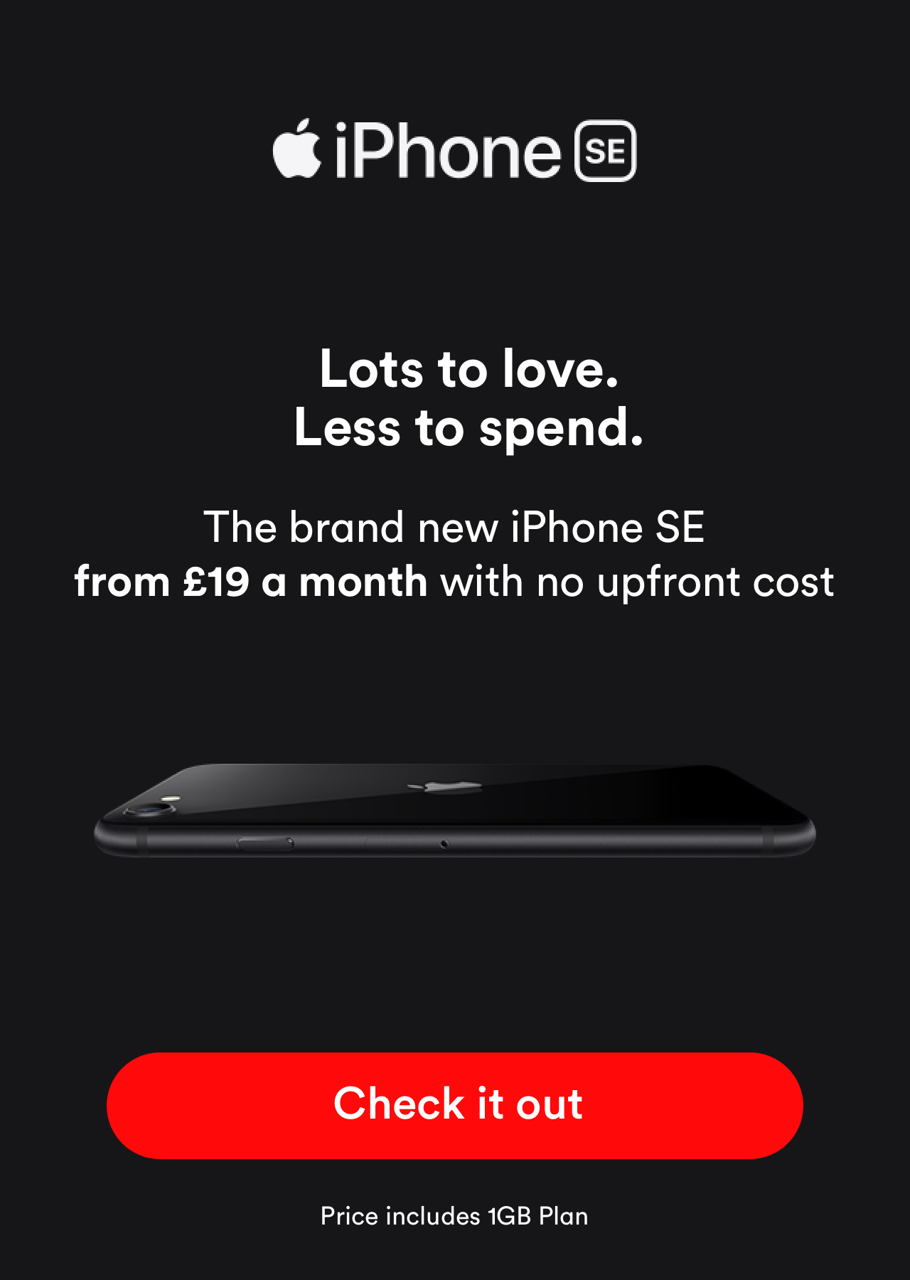 iPhone SE from £19 a month