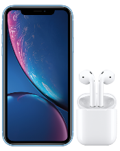 Apple iPhone XR and AirPods