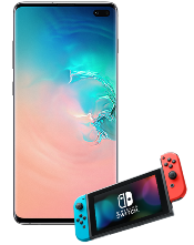Samsung Galaxy S10+ and Nintendo Switch