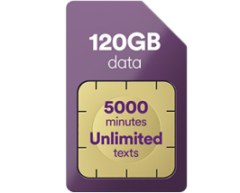 5GB data for just £9 a month