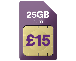 25GB data for just £15 a month