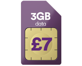 3GB data for just £7 a month
