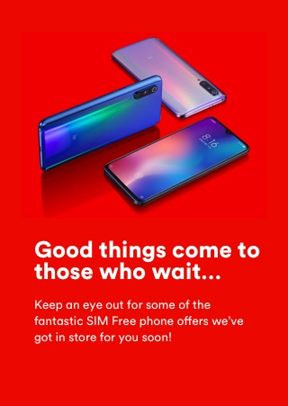 SIM Free phones coming soon