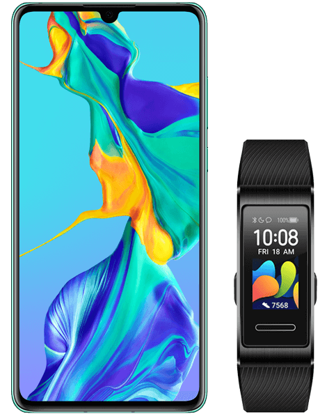 Huawei P30 Aurora and Watch