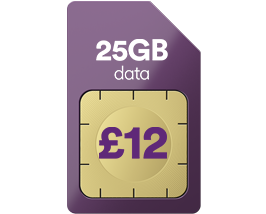 25GB data for just £12 a month