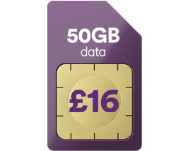 50GB data for just £16 a month