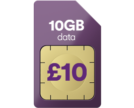 10GB data for just £10 a month