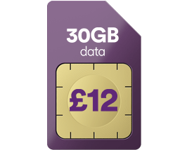 30GB data for just £12 a month