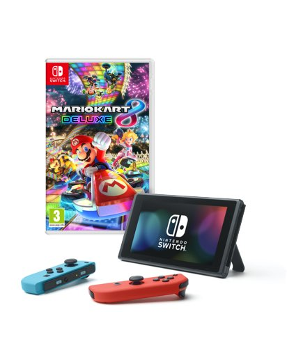Nintendo Switch with Mario Kart 8