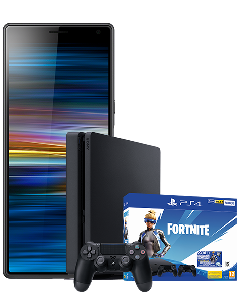Xperia 10 And PS4 With Fortnite