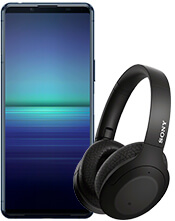 Sony Xperia 5 II 5G and headphones