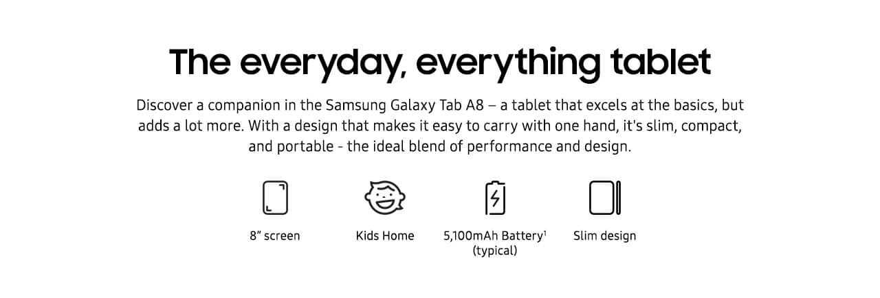 Galaxy Tab A features