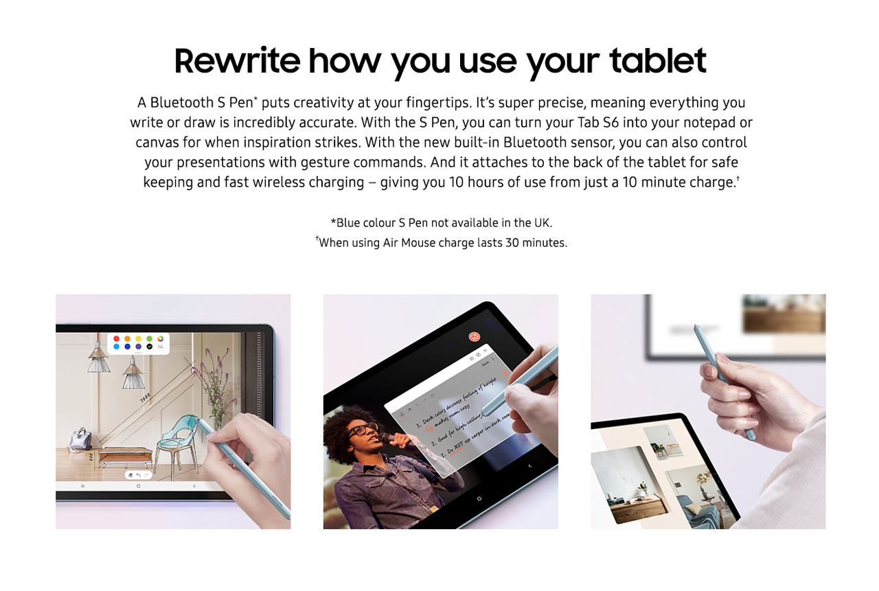 Rewrite how to use your tablet