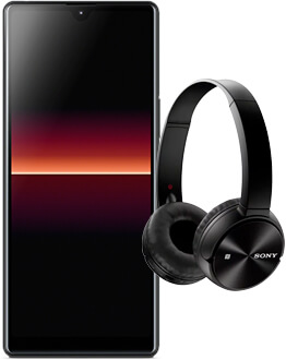 Xperia L4 with Sony headphones