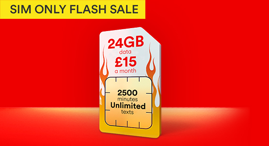 Get 24GB of data for just £15! This scorching SIM Only deals ends 17th July