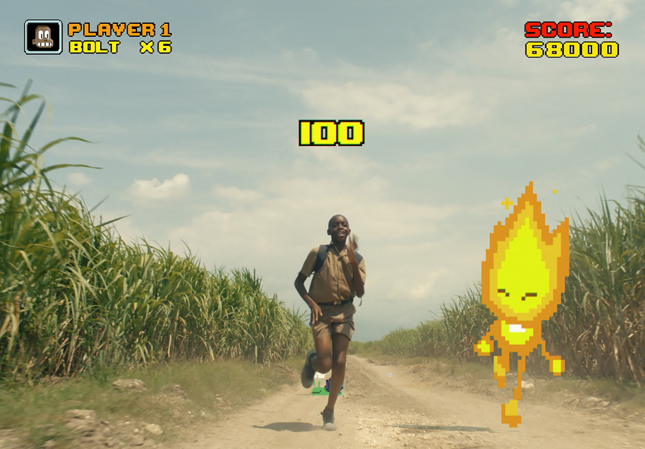 Arcade game with Usain Bolt