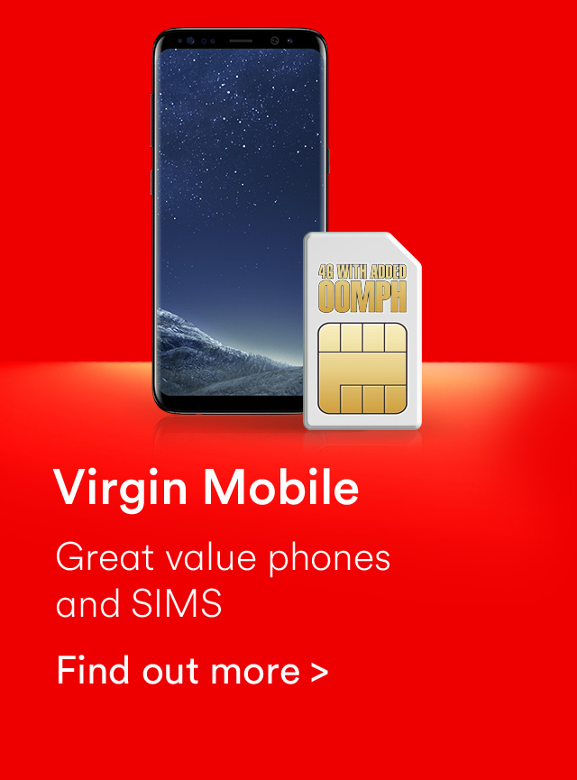 Virgin Mobile great value phones and sims
