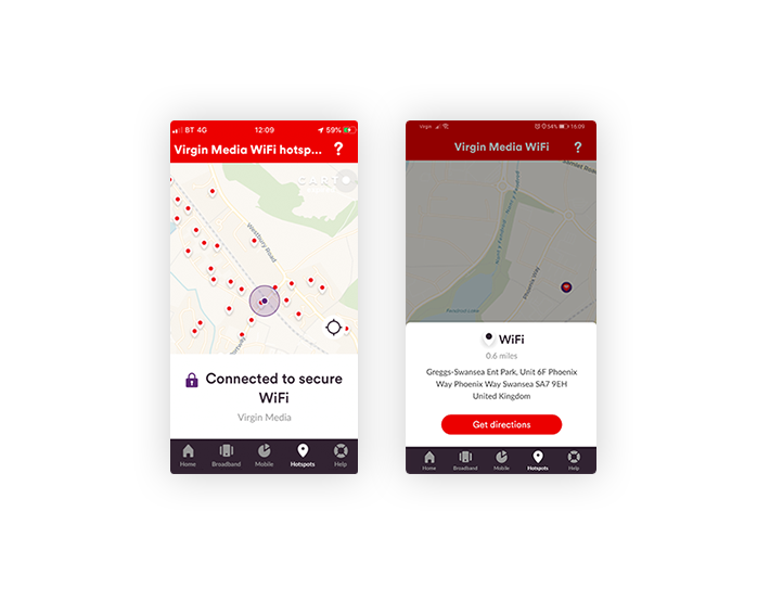 Connect to Virgin Media WiFi when you're out and about