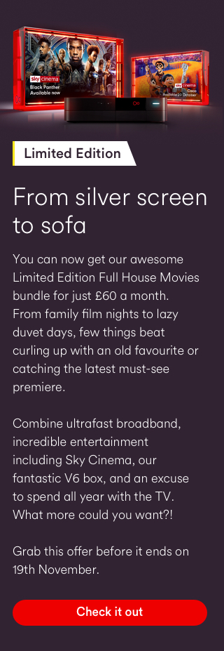 Virgin Media Limited Edition Full House Movies offer