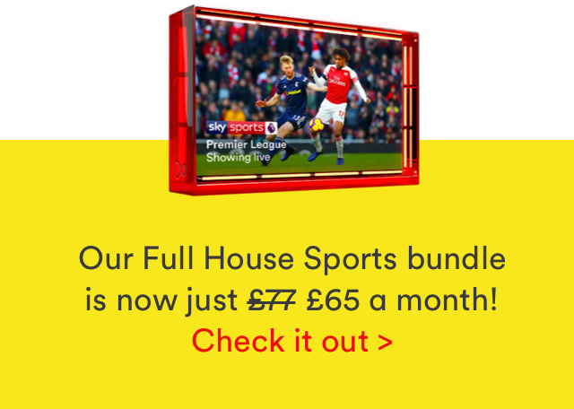 Full House Sports limited time offer only £65