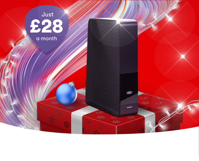 Order our superfast M100 broadband now and enjoy free set up, just in time for Christmas