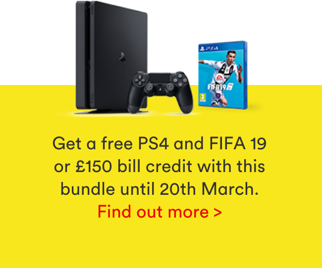 Get a free PS4 with this bundle until 20th March!
