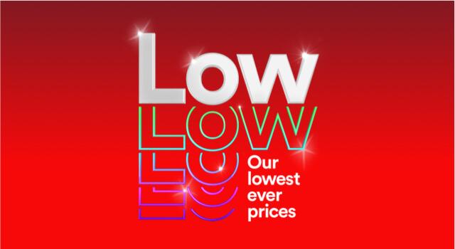 Our lowest ever prices this Black Friday