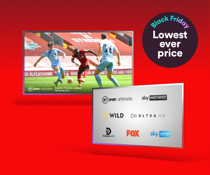 Enjoy our lowest ever price on the epic Bigger M200 bundle and get blazing fast average speeds of 213Mbps, plus over 210 channels of amazing TV.