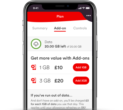 virgin mobile application stubs