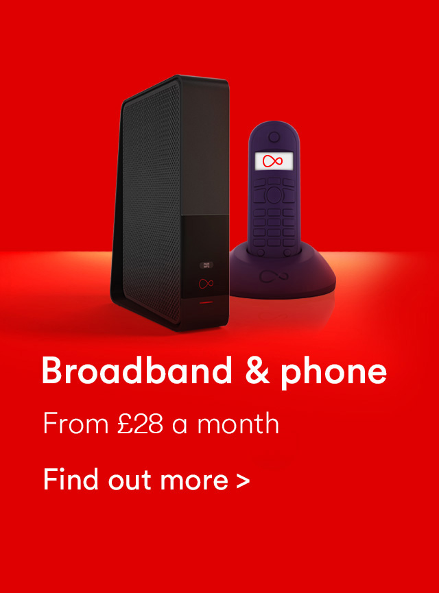Virgin Media broadband and phone from £27 a month