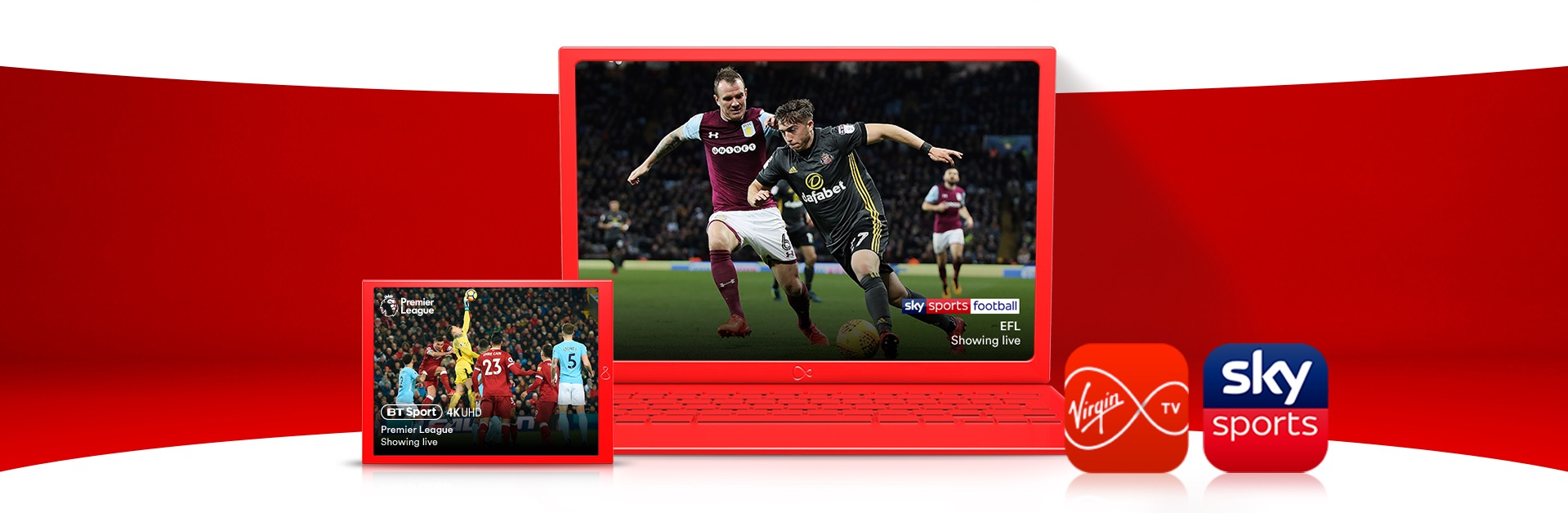 Live football fixtures on Sky Sports and BT Sports | Virgin Media