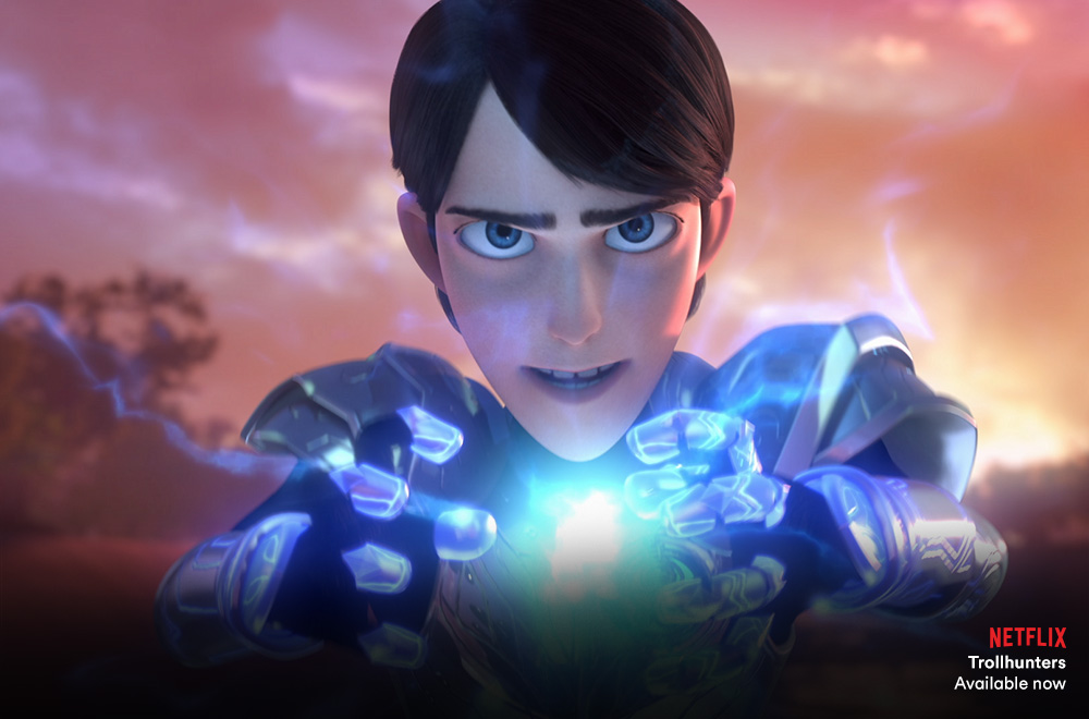 Trollhunters on Netflix with Virgin TV