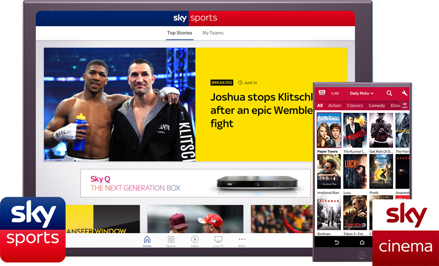 Sky sports devices image