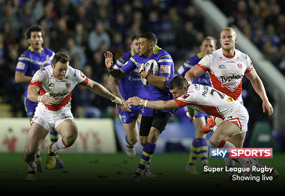 Super League Rugby showing live on Sky Sports