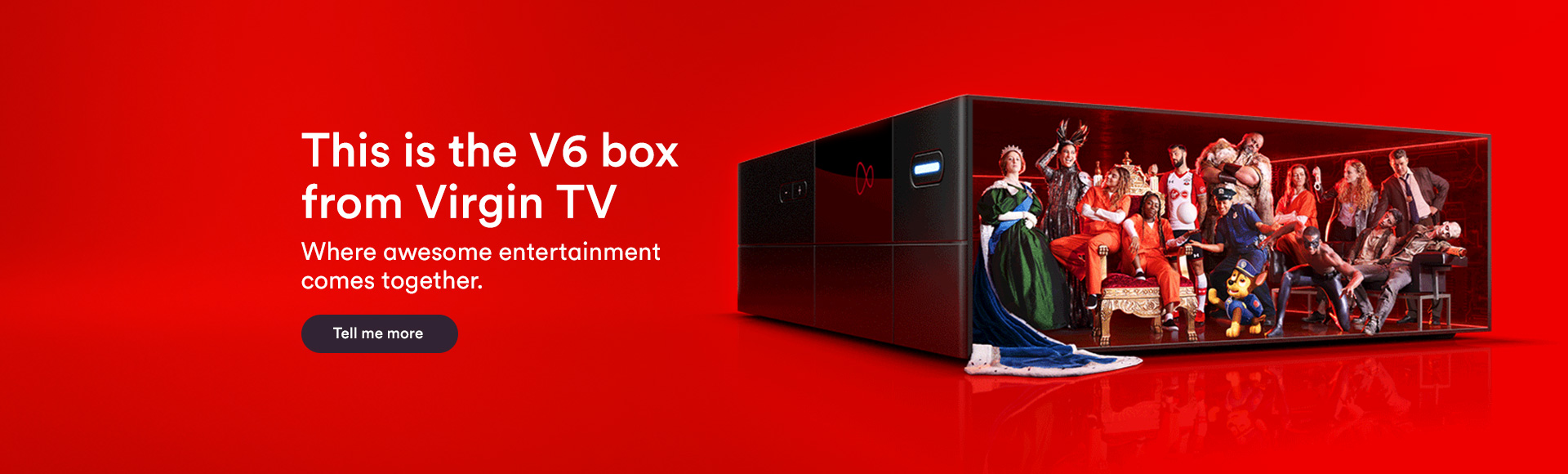 V6 box from Virgin TV