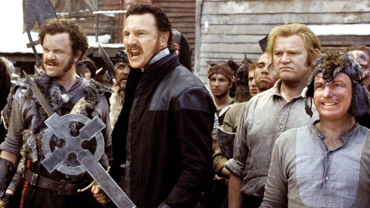 John C Reilly, Liam Neeson, Brenden Gleeson and Gary Lewis in Gangs Of New York