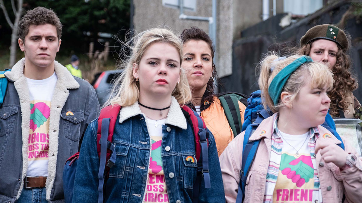 Derry Girls stars, Dylan Llewellyn, Saoirse-Monica Jackson, Jamie-Lee O'Donnell, Nicola Coughlan and Louisa Harland