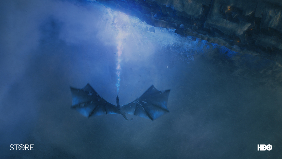 The dragon Viserion battles the Night King in Game Of Thrones
