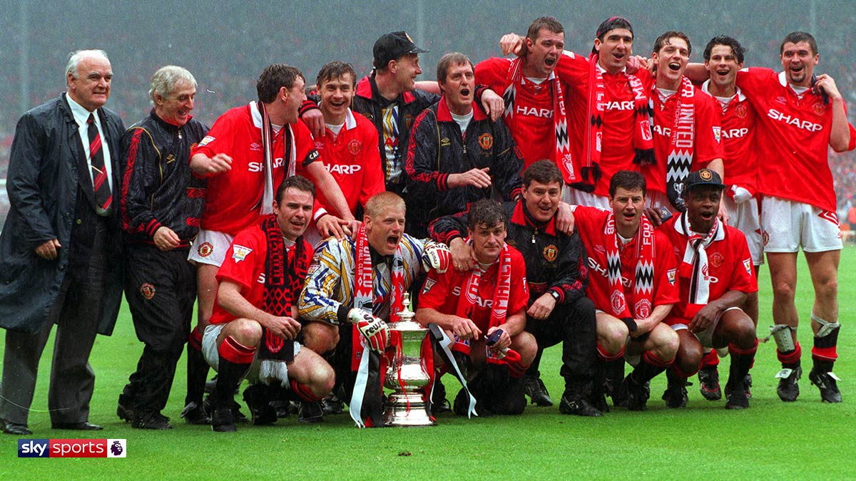 Manchester United winning the 1994 FA Cup