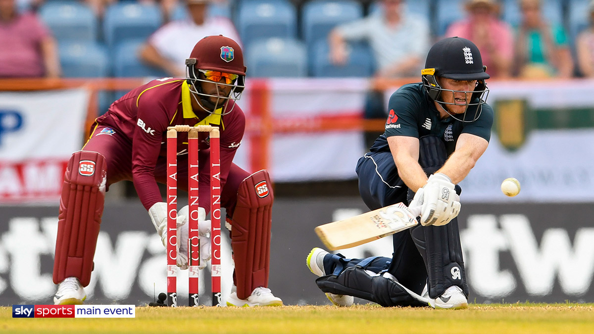 England playing the West Indies, ODI cricket series