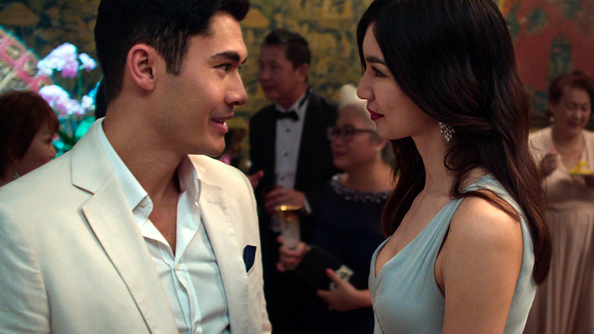 Henry Golding and Gemma Chan in Crazy Rich Asians