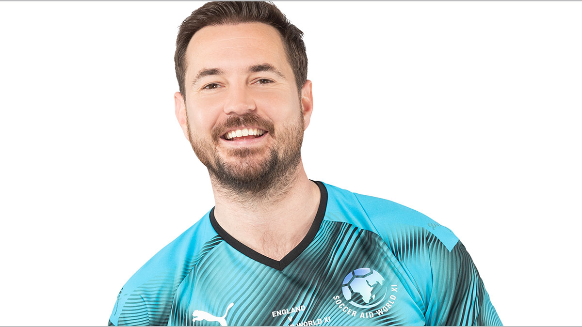Soccer Aid player Martin Compston