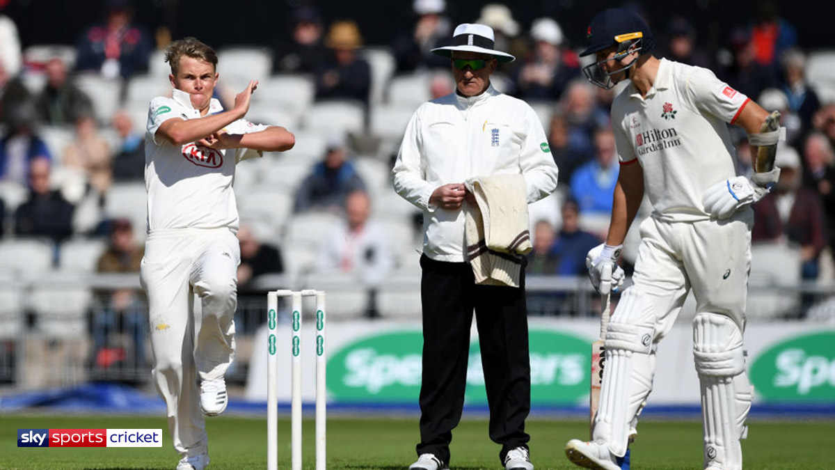 Cricketer Sam Curran playing for Surrey
