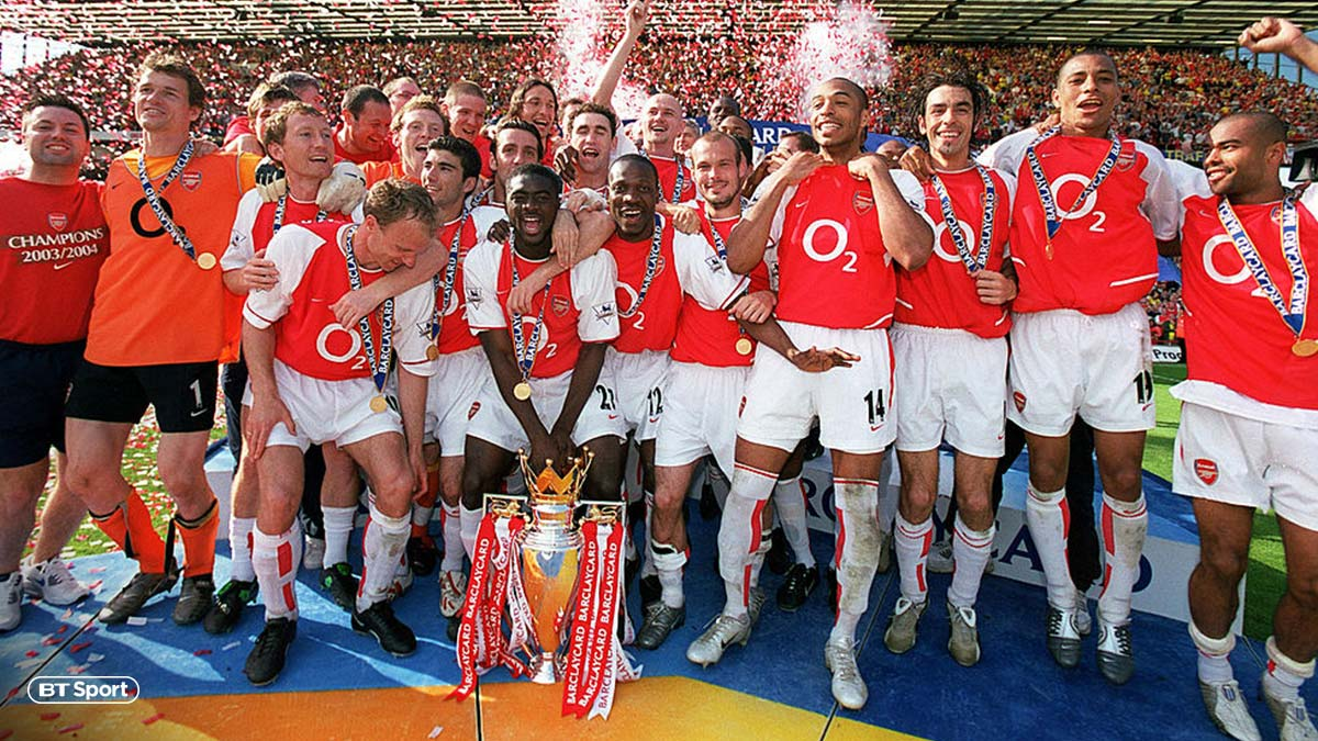 Arsenal's 2003/04 Invincibles team, managed by Arséne Wenger