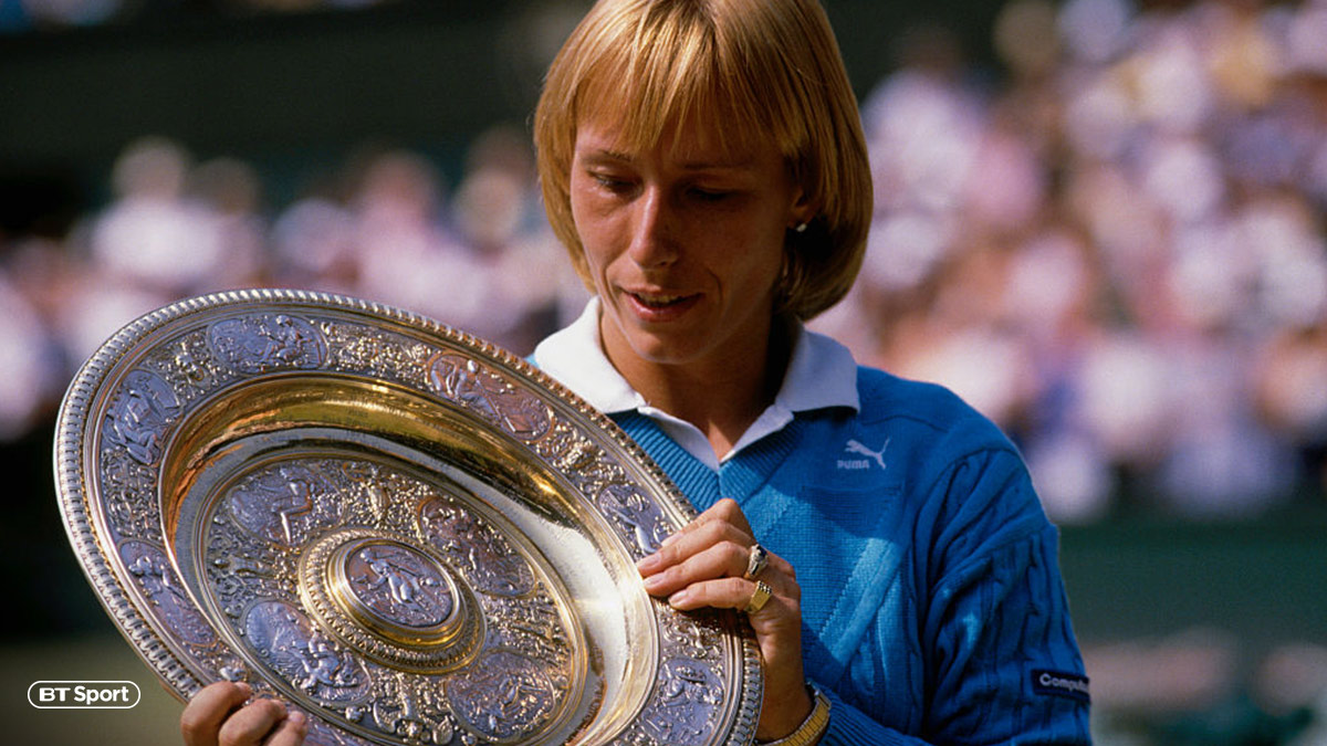 Tennis star Martina Navratilova