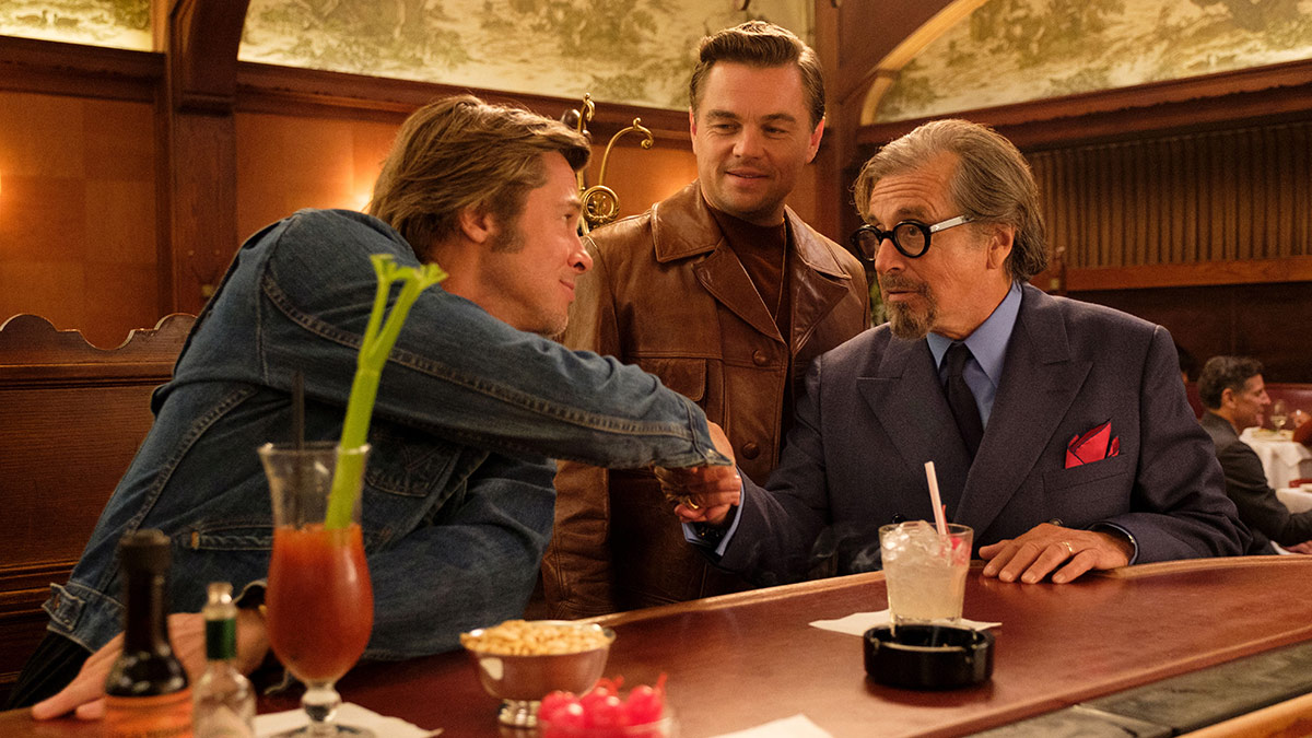 Brad Pitt, Leonardo DiCaprio and Al Pacino in Once Upon A Time In Hollywood